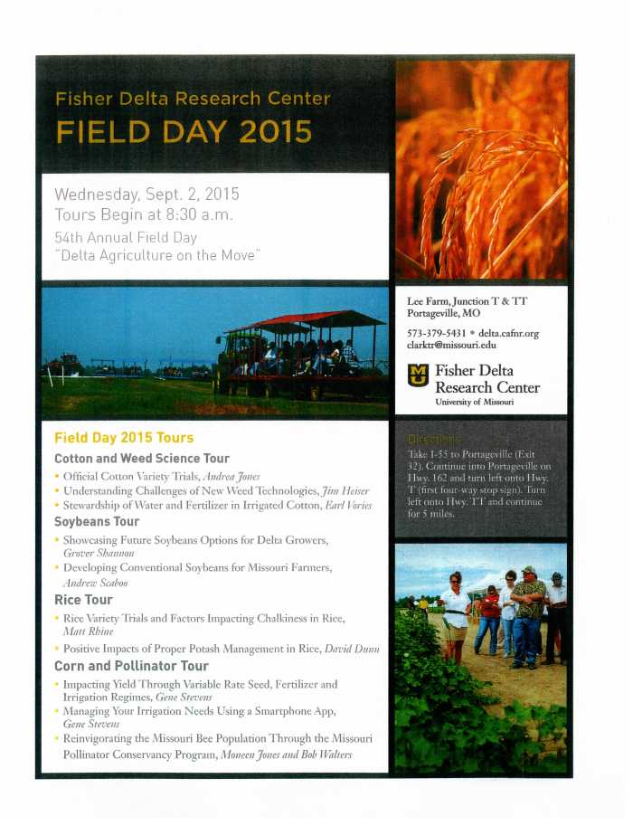 Delta Research Center Field Day, 2015
